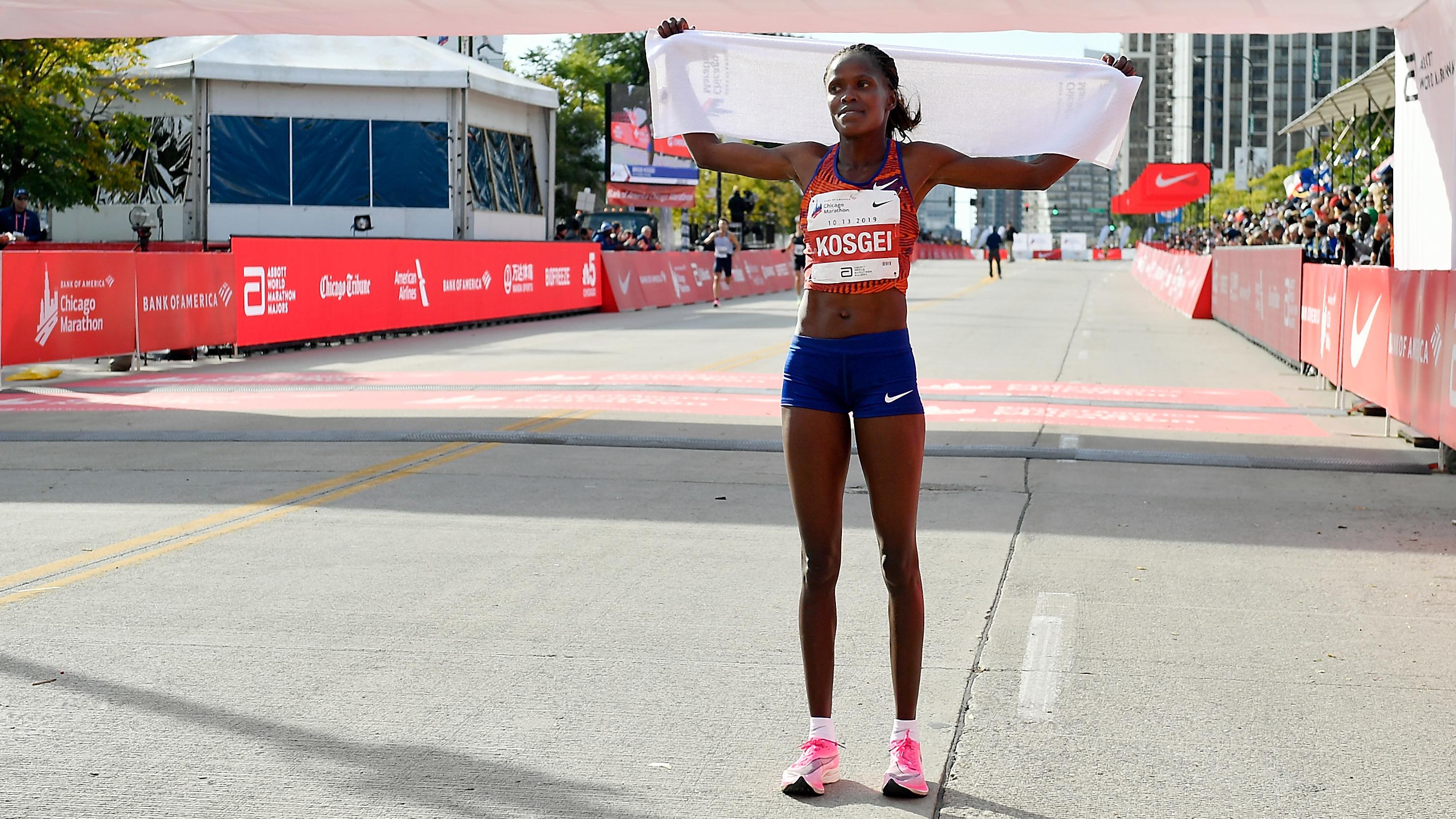 Kenyan Brigid Kosgei Smashes Women's World Record At Chicago Marathon