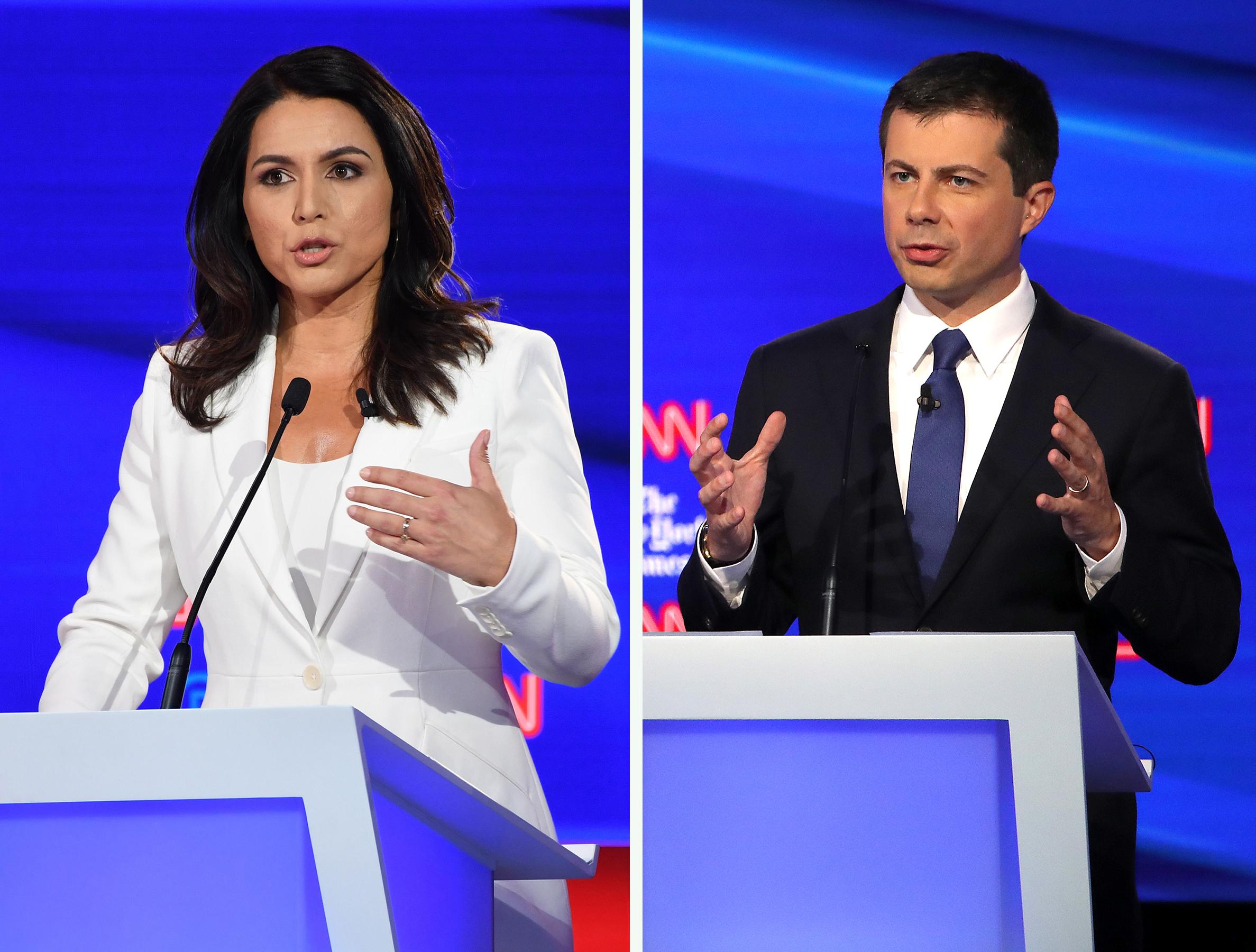 In Democratic Debate, A Fiery Clash Over U.S. Role In Syria