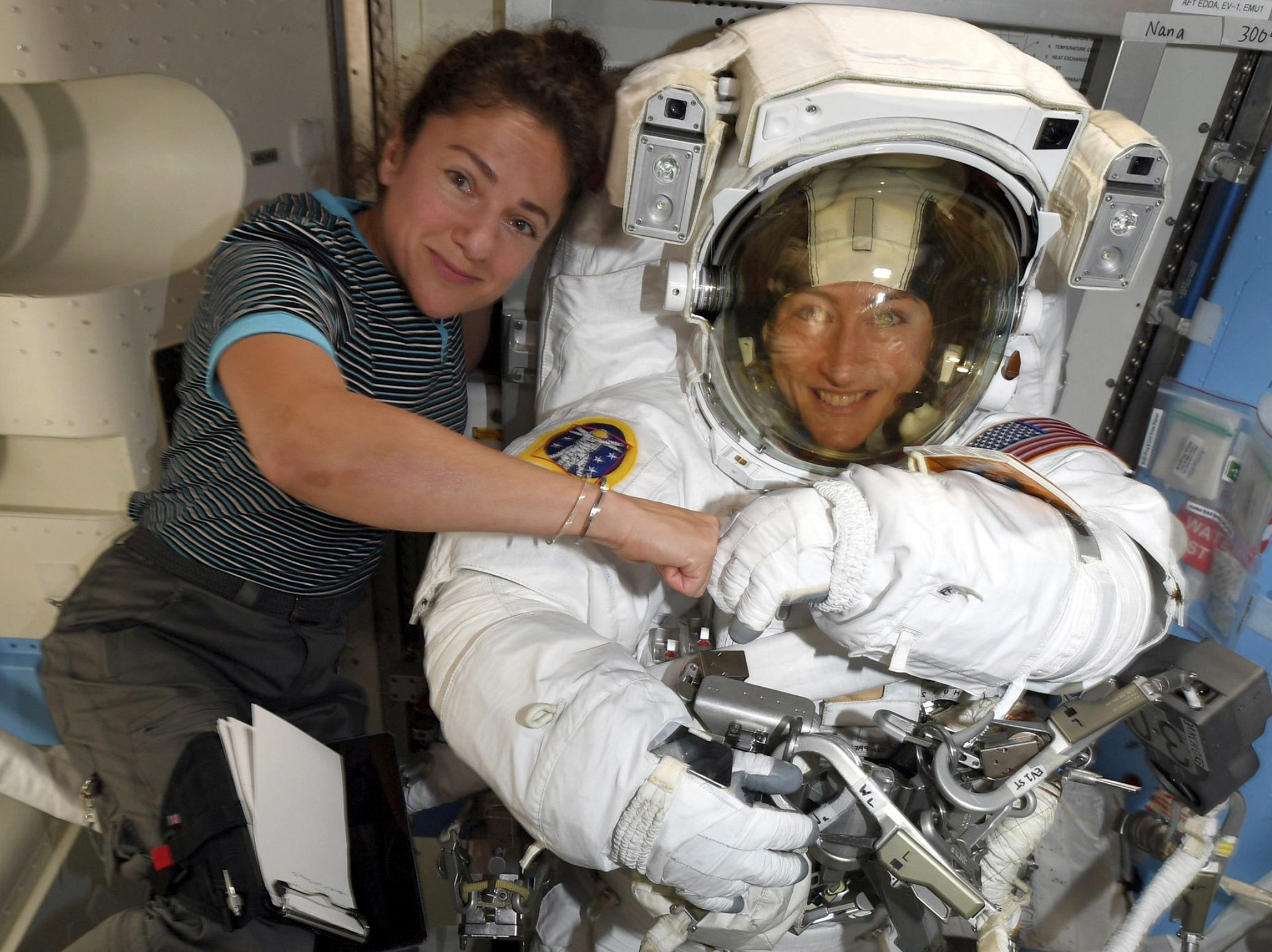 The first all-female spacewalk will finally happen on Friday