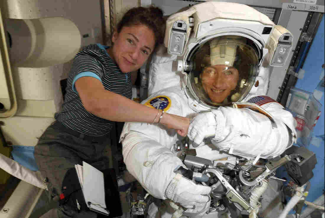 United States astronauts carry out 1st all-female spacewalk