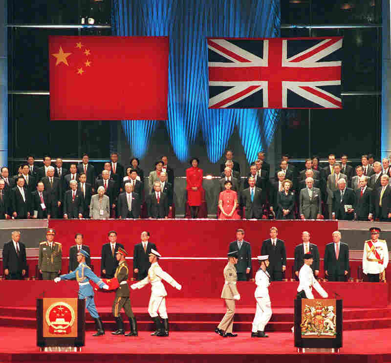On July 1st, 1997, the official handover of Hong Kong from Britain to China was recognized with a ceremony. The event marked the end of 156 years of British colonial rule over the territory.