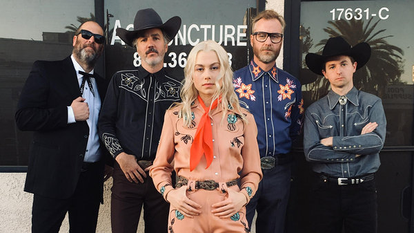Phoebe Bridgers (center) and Matt Berninger (second from right) have teamed up to record a new song together, titled