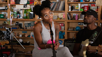 Summer Walker plays a Tiny Desk Concert on Sept. 13, 2019 (Laura Beltran Villamizar/NPR).