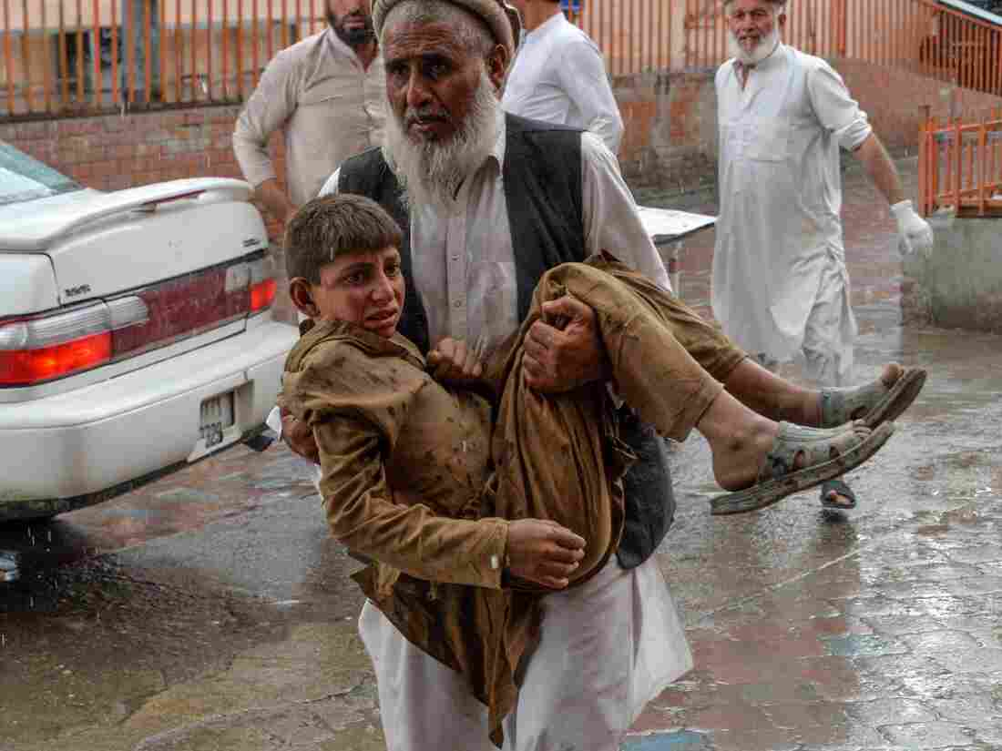 Westlake Legal Group gettyimages-1176504679-cc134c212cd9104b3607dbc0b07c518cedab7311-s1100-c15 Explosions At Mosque Kill At Least 62 People In Afghanistan