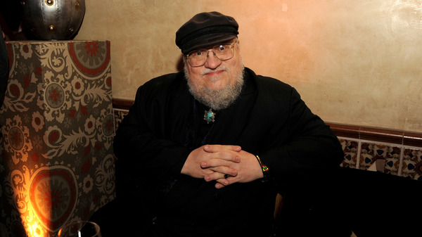 George R.R. Martin at the afterparty for the premiere of HBO's Game Of Thrones in 2013.