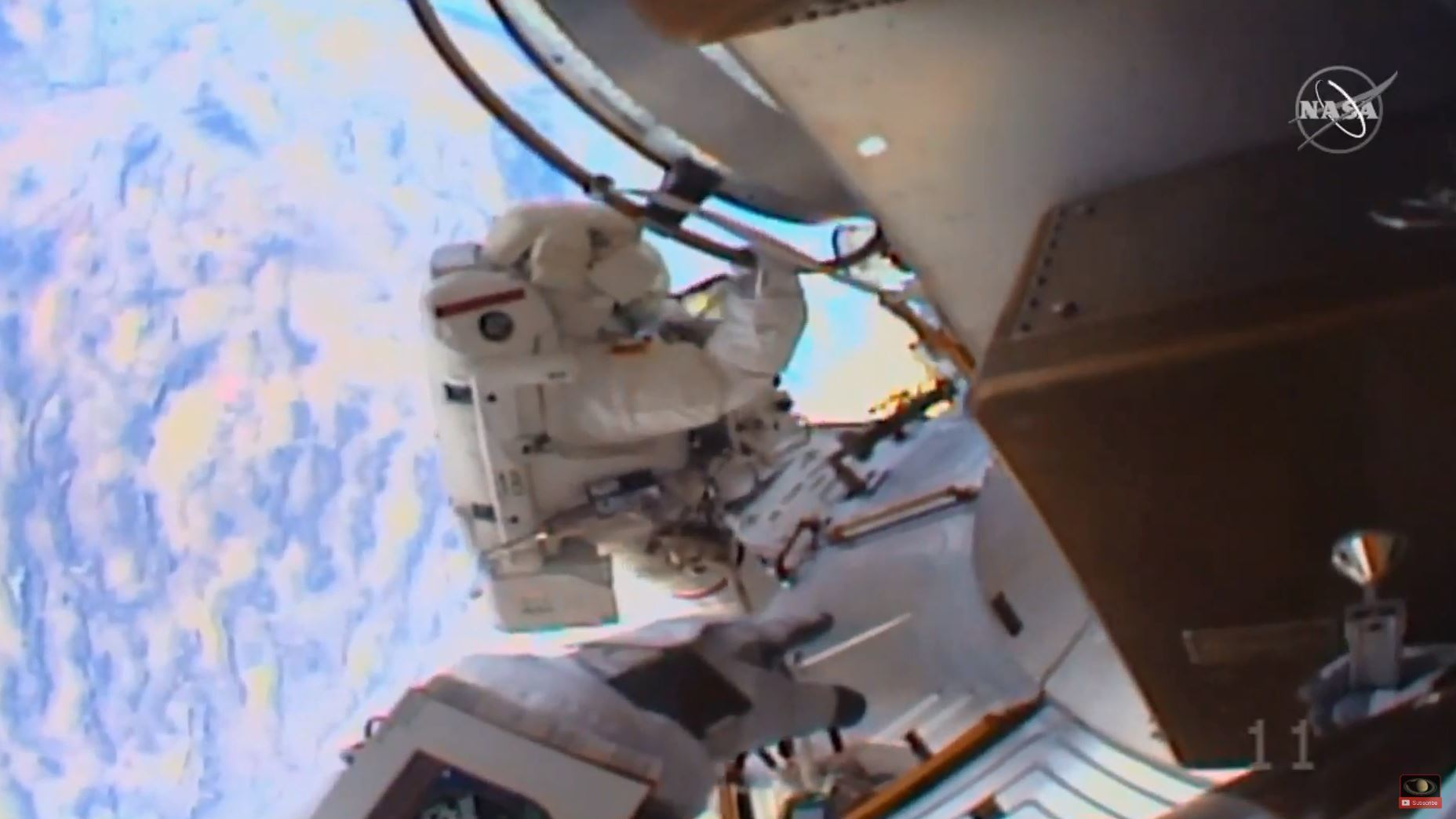 Astronauts Christina Koch and Jessica Meir conducted some much-needed work on the exterior of the International Space Station on Friday. Along the way, they also enjoyed amazing views of Earth.