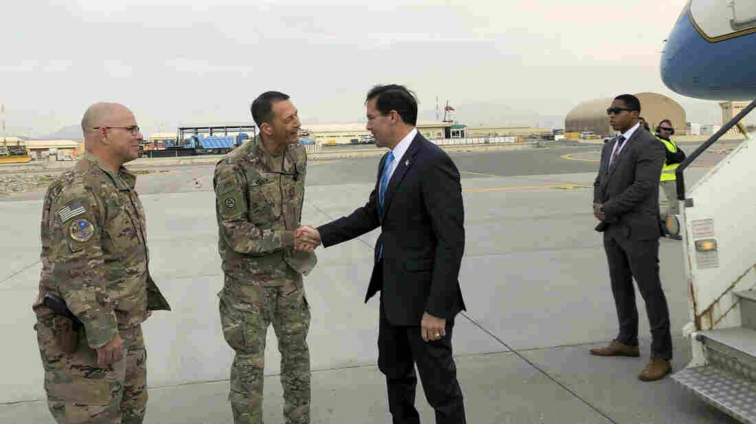 US defense chief Mark Esper visiting Afghanistan to assess the way ahead