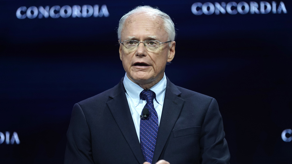 James Jeffrey speaks onstage during the 2019 Concordia Annual Summit last month in New York City. Jeffrey, the U.S. special representative for Syria, is scheduled to testify before members of the Senate Foreign Relations Committee Tuesday afternoon. (Riccardo Savi/Getty Images for Concordia Summit)