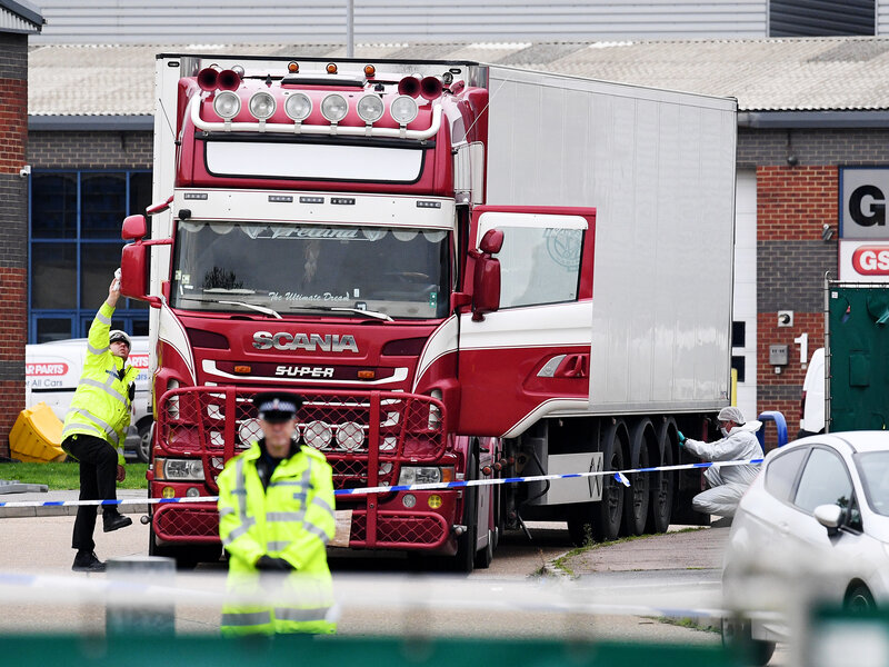Image result for Dead bodies found in a truck in Essex