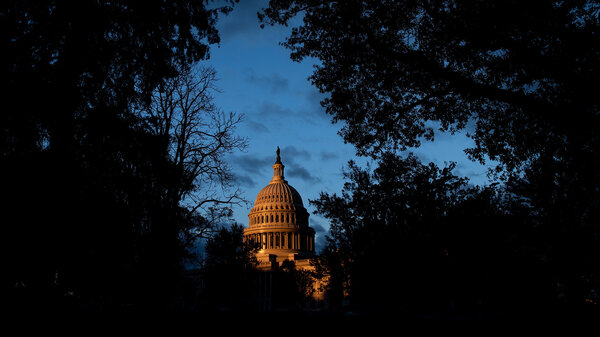 A view of the U.S. Capitol this month. House investigators are expected to press Charles Kupperman, deputy to then-National Security Adviser John Bolton, to corroborate key elements of an account that President Trump built a shadow foreign policy team to pressure the Ukrainian president.