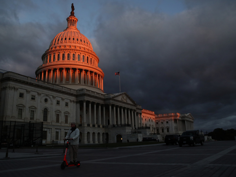 The early morning light hits the U.S. Capitol Building on Oct. 17. (Mark Wilson/Getty Images)