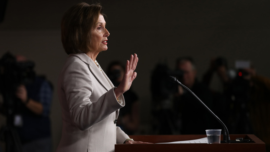 House Speaker Nancy Pelosi announced on Monday that the House will vote to formalize its impeachment inquiry into President Trump. Above, she speaks to reporters earlier this month. (Chip Somodevilla/Getty Images)