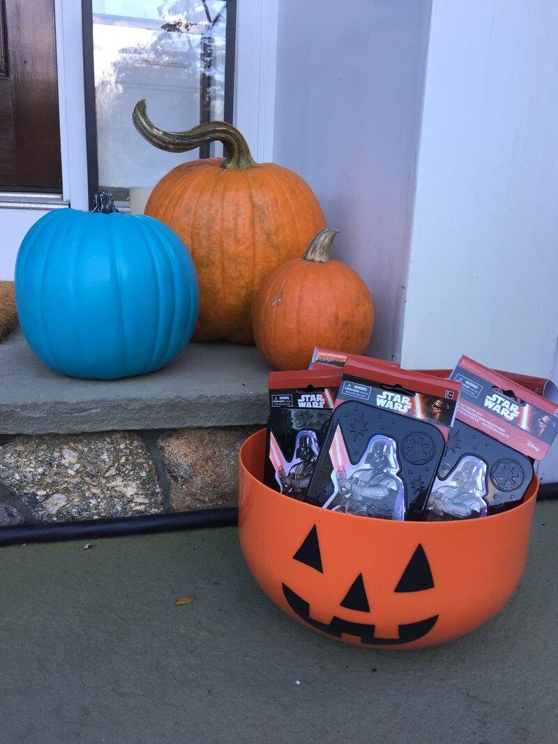 Halloween Pumpkin Candy Bucket Teal