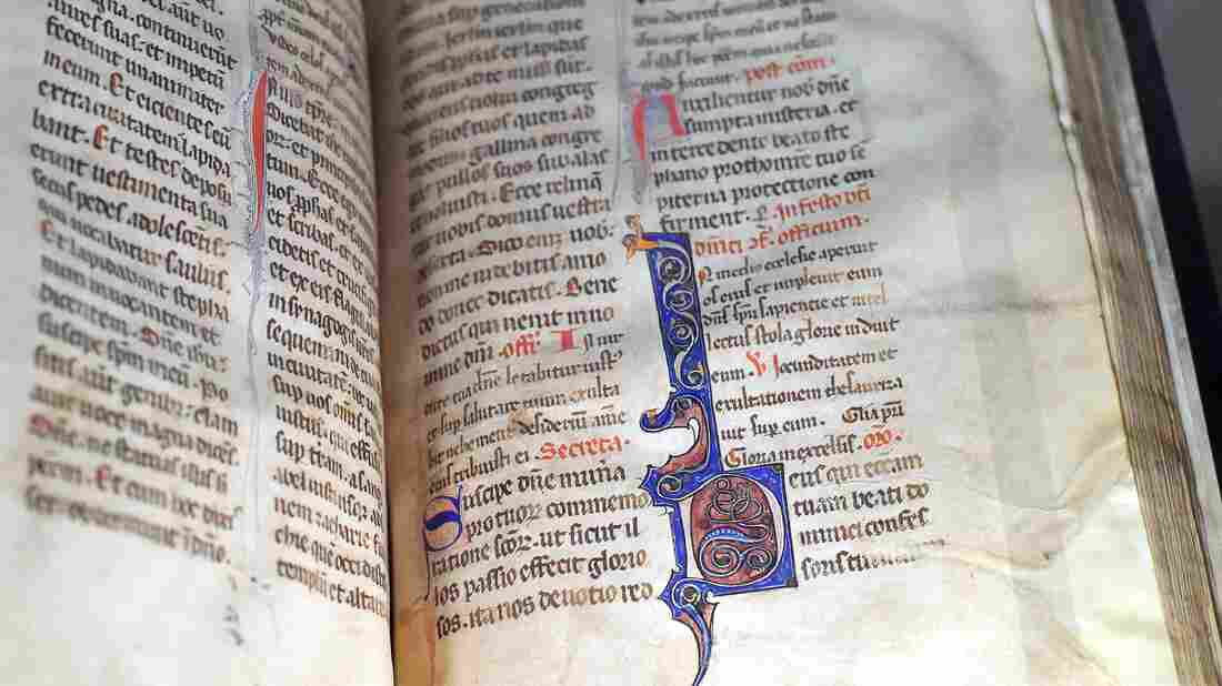A medieval manuscript which belonged to friars of the Dominican order, is on display at the Bibliothèque détude et du patrimoine (Library for Study and Heritage) in Toulouse on December 3, 2016.