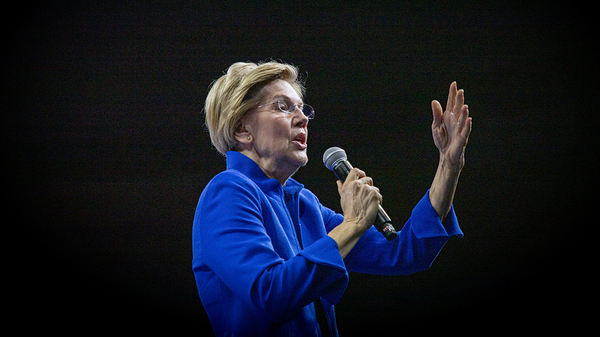 Massachusetts Sen. Elizabeth Warren said change couldn't come incrementally but in the bold, sweeping ideas that she has called for.