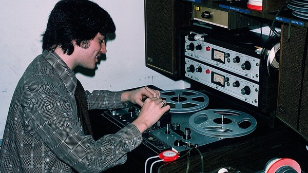 Jay Kernis edits tape for a story at NPR in the late 1970s. Kernis left NPR in 1987. He is now a producer for CBS' Sunday Morning.