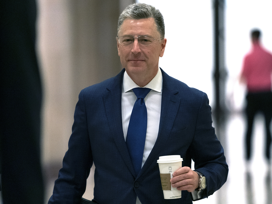 Kurt Volker, a former special envoy to Ukraine, arrives for a closed-door interview with House investigators at the Capitol in Washington on Oct. 3. (J. Scott Applewhite/AP)