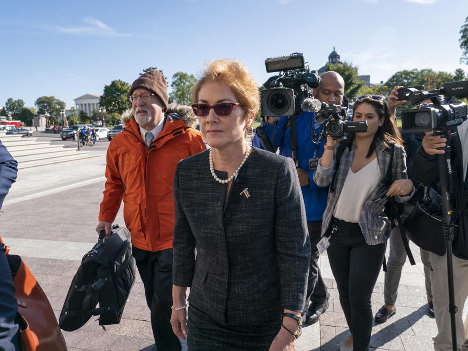 Former U.S. Ambassador to Ukraine Marie Yovanovitch testified Oct. 11 as part of the House impeachment inquiry into President Trump. The full transcript of her testimony was released Monday. (J. Scott Applewhite/AP)