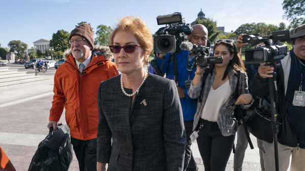 Former U.S. Ambassador to Ukraine Marie Yovanovitch testified Oct. 11 as part of the House impeachment inquiry into President Trump.