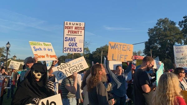 Activists demonstrated recently in High Springs, Fla., to oppose Nestlé