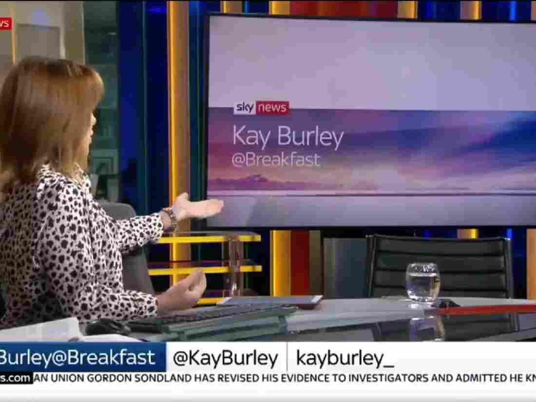 Watch as Sky News presenter Kay Burley 'empty chairs' Tory party chairman