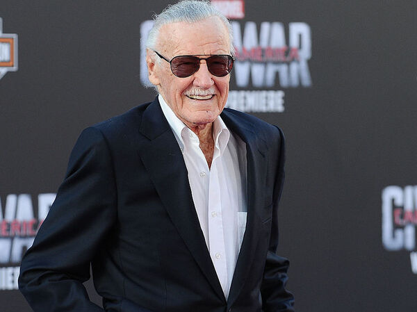 "Stan Lee attends the premiere of ""Captain America: Civil War"" at Dolby Theatre on April 12, 2016 in Hollywood, Calif."