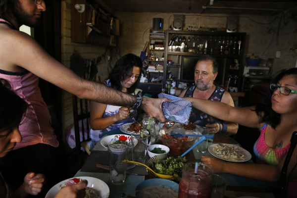 The Córdovas are very close — the family eats most meals together.