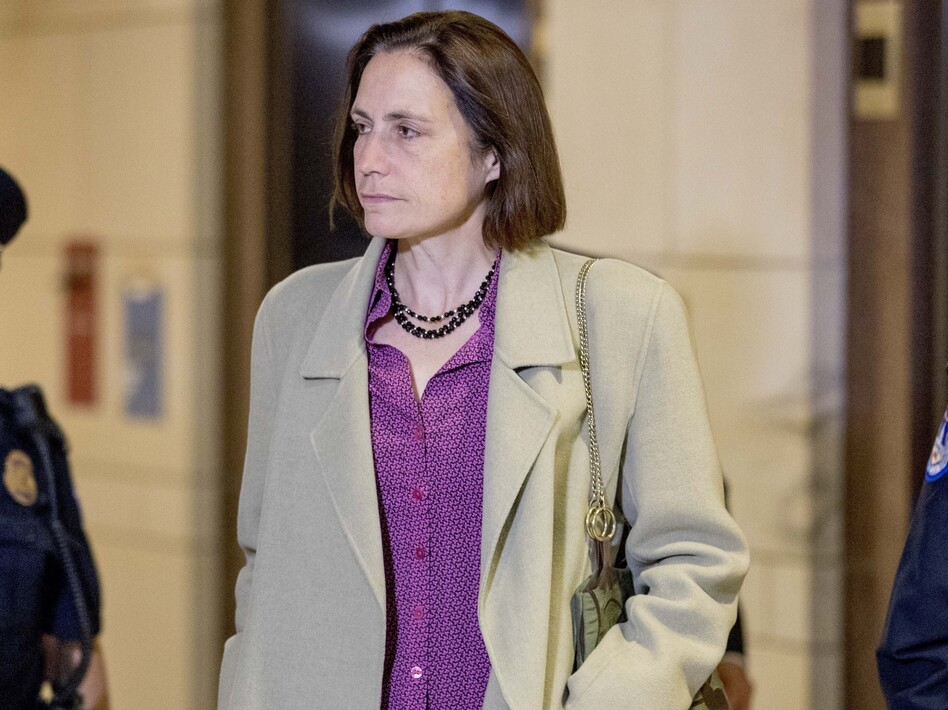 Fiona Hill, a former White House adviser on Russia, arrives for a closed-door meeting as part of the House impeachment inquiry on Monday. (Andrew Harnik/AP)