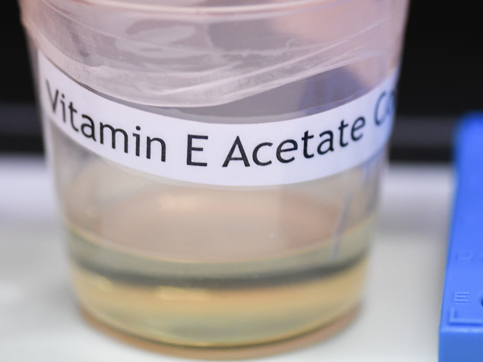 The Centers for Disease Control and Prevention in Atlanta said Friday that fluid extracted from the lungs of 29 injured patients who vaped all contained the chemical compound vitamin E acetate. (Hans Pennink/AP)
