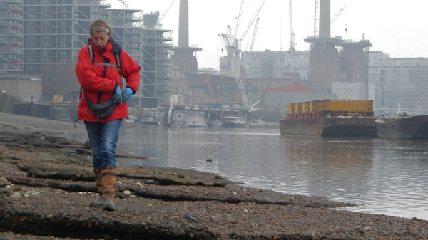 Lara Maiklem searches for treasures along the foreshore of the Thames.