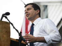 If Pete Buttigieg, 37, won the U.S. presidency, he would be the youngest person to hold the office. But so far, his campaign appeals slightly more to older voters than younger ones. Above, he speaks on Sept. 16 in Galivants Ferry, S.C.