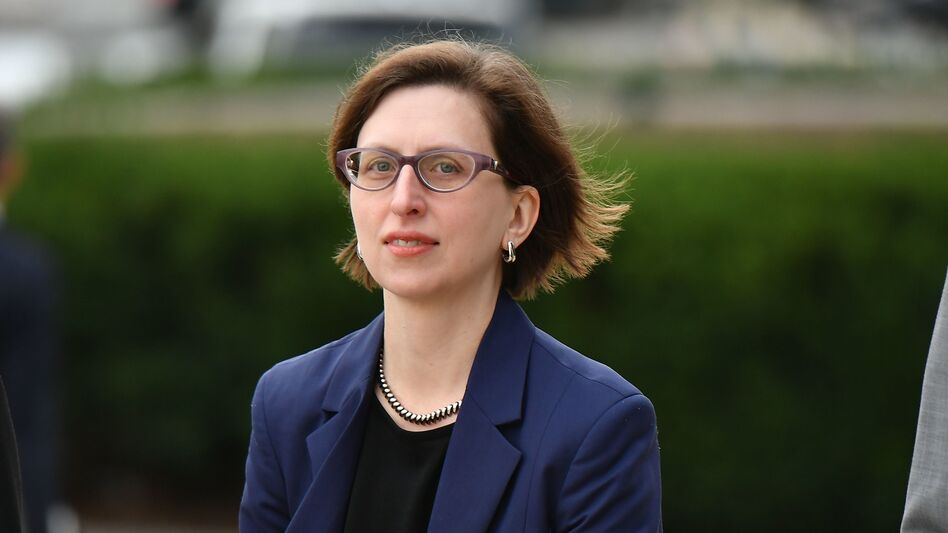 Laura Cooper, the deputy assistant secretary of defense for Russia, Ukraine and Eurasia, arrives at the U.S. Capitol on Oct. 30. A transcript of her testimony to House investigators in the impeachment inquiry was released on Monday. (Mandel Ngan/AFP via Getty Images)