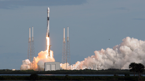 A SpaceX Falcon 9 rocket lifts off Monday from Florida