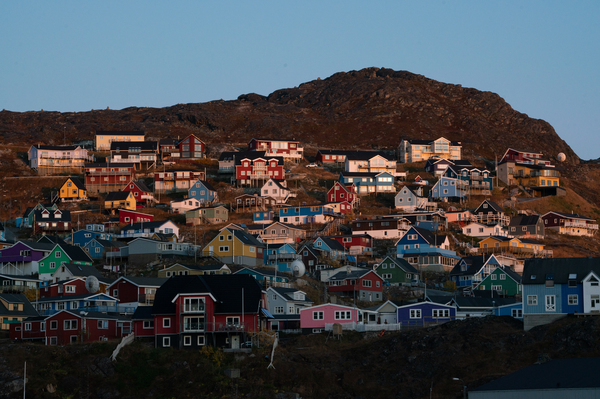 The remote town of Qaqortoq, in southern Greenland, has a population of about 3,000 people.