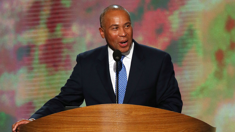 Then-Massachusetts Gov. Deval Patrick speaks at the 2012 Democratic National Convention in Charlotte, N.C. Deval has announced he will enter the 2020 presidential race. (Alex Wong/Getty Images)