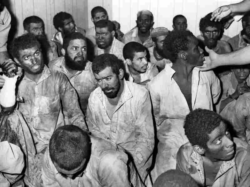 Arrested gunmen belonging to the group commanded by Juhayman al-Otaiba.