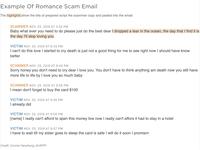 Illustration of scammer script