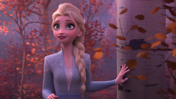 Elsa (voiced by Idina Menzel) is headed for a Fall in Frozen II.