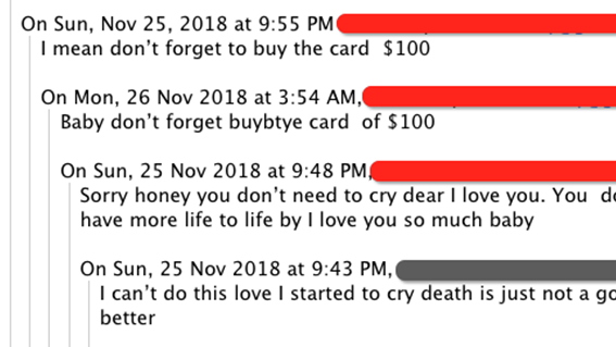 Love scamming 2018