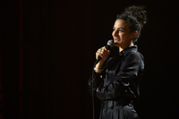 Jenny Slate's new Netflix comedy special is <em>Stage Fright</em>.