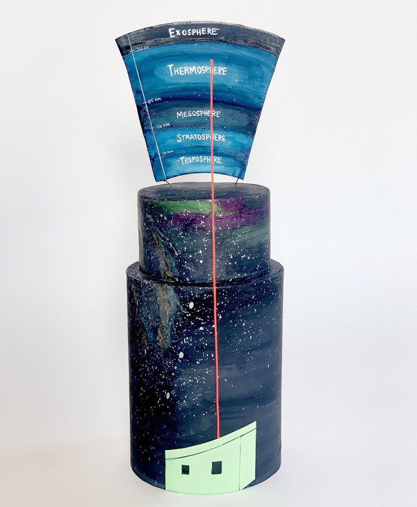 McAdoo says this cake is an homage to atmospheric scientists who have continuously operated equipment at Arrival Heights for over 11 years — a full solar cycle. Their team shoots pulsed lasers into the sky to measure density, temperature and wind speed in the uppermost atmosphere, aided by the 24-hours of darkness during the Antarctic winter.