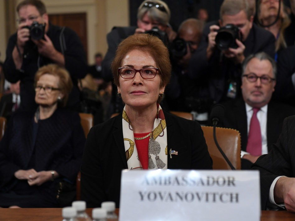 Former U.S. Ambassador to the Ukraine Marie Yovanovitch testifies during the second public hearing of the House impeachment inquiry. (Saul Loeb/AFP via Getty Images)