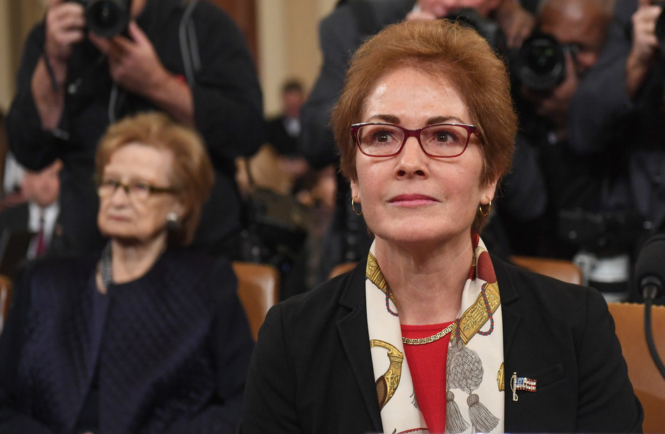 Former U.S. Ambassador to the Ukraine Marie Yovanovitch testifies during the second public hearings held by the House Intelligence Committee as part of the impeachment inquiry into President Trump on Friday. (Saul Loeb/AFP via Getty Images)