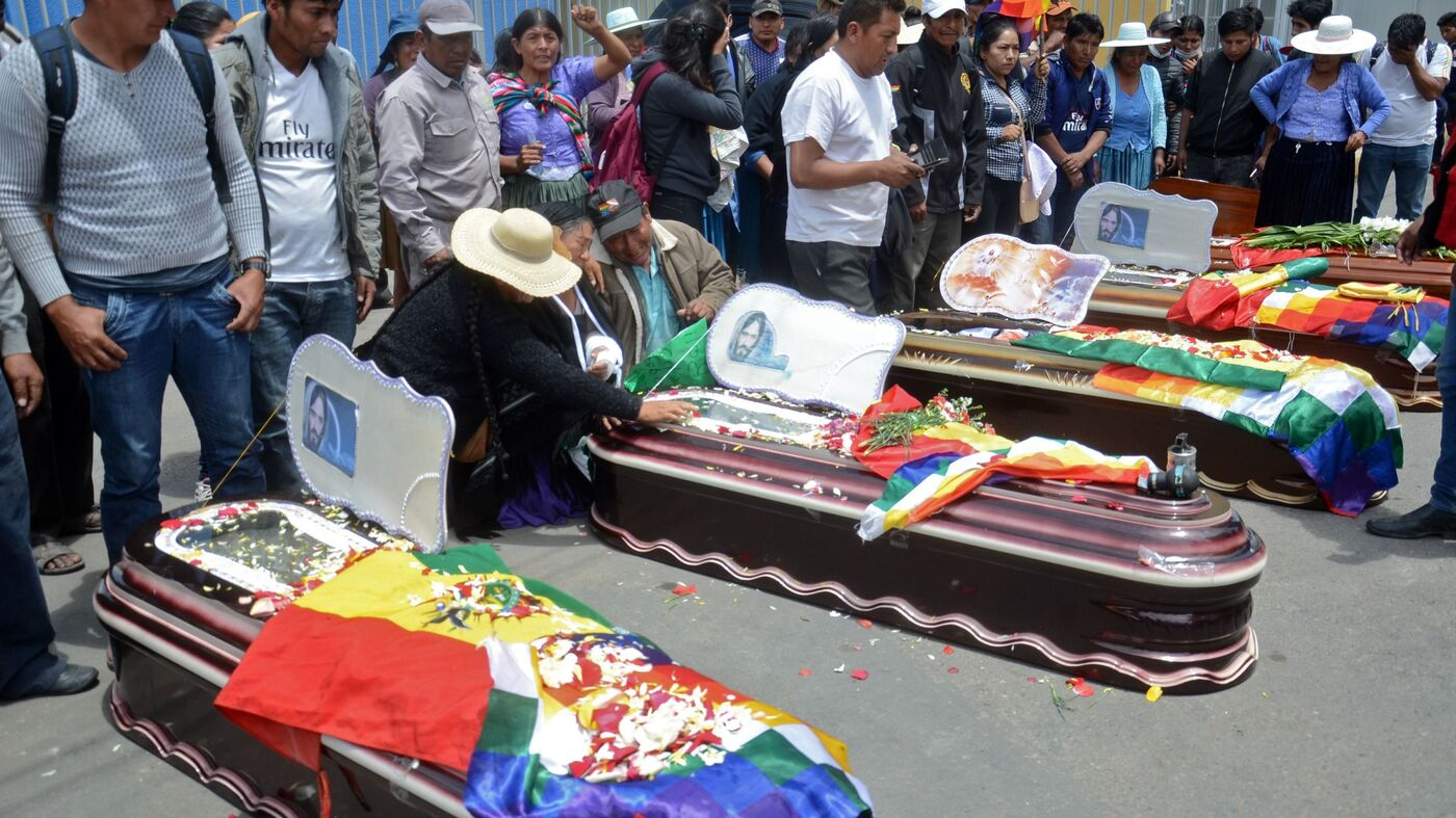 8 Killed In Bolivia As Protesters Call For Return of Ousted President Evo Morales - NPR image