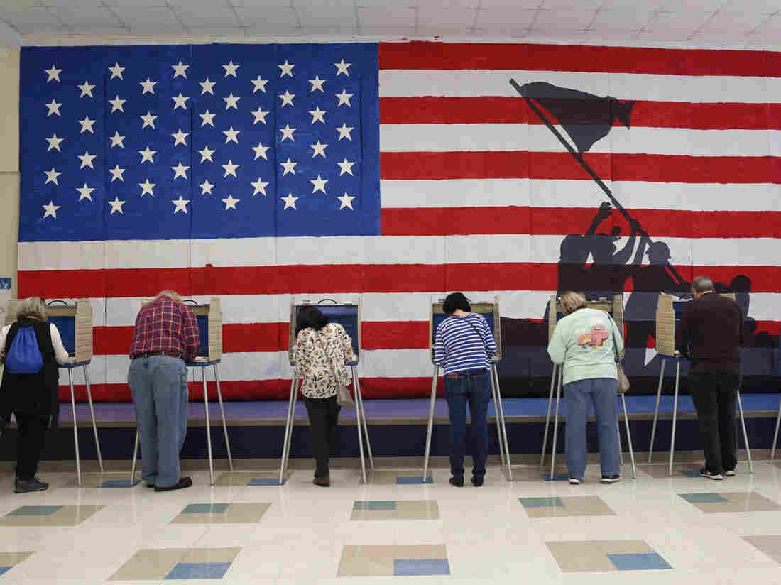 RICHMOND, VA - November 5: Voters cast their ballots at Robious Elementary School Tuesday, November 5, 2019 in Chesterfield County, Va. (Photo by Julia Rendleman for The Washington Post via Getty Images)