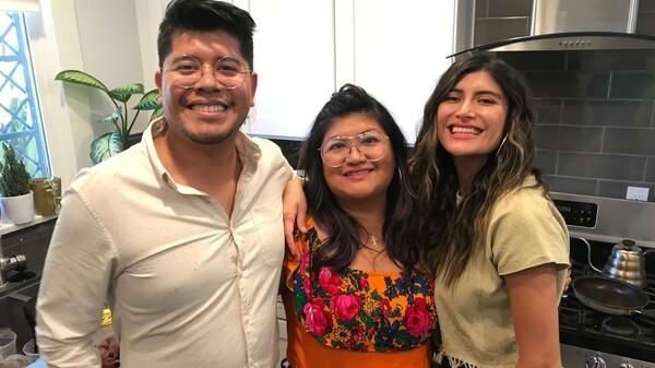 Fernando, Paulina and Bricia Lopez run Guelaguetza, the family