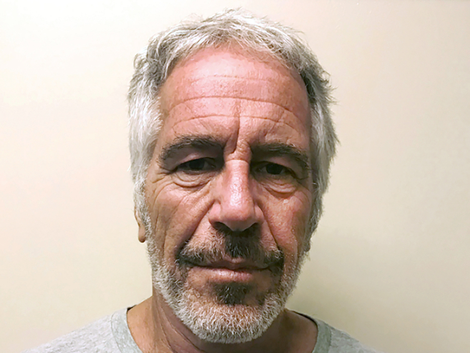 Two correctional officers who were guarding Jeffrey Epstein's cell were charged by federal prosecutors on Tuesday with making false records and conspiracy. (New York State Sex Offender Registry via AP)