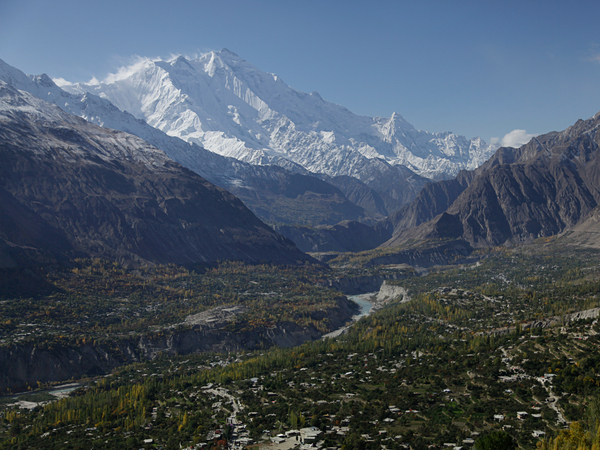 The town of Karimabad, Pakistan, is nestled near the Ultar glacier. Pollution and global warming are causing the glacier to melt and form unstable lakes that could burst their icy banks at any moment.