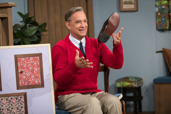 "Tom Hanks stars as Fred Rogers in A Beautiful Day in the Neighborhood. Hanks watched a lot of Mister Rogers to research the role and found as an adult, you don't really ""get it"": ""Why is it taking so long? What's the big deal? What are these fish?"""