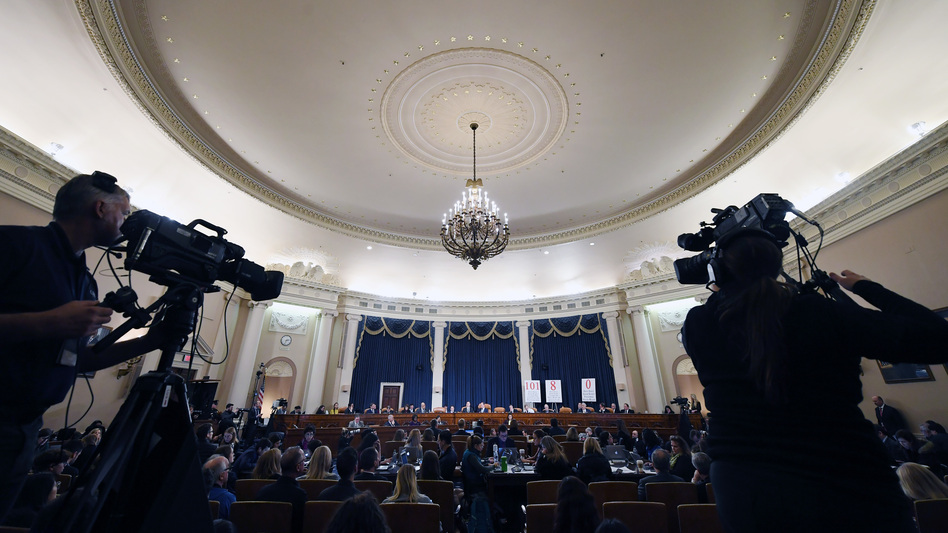 Fiona Hill, the National Security Council's former senior director for Europe and Russia, and David Holmes, an official from the U.S. Embassy in Ukraine, testified in the House impeachment inquiry Thursday. (Matt McClain/Pool/Getty Images)